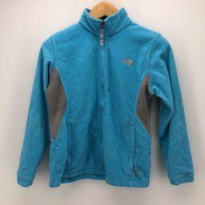 The North Face Girls Fleece Jacket Blue Gray Sz L